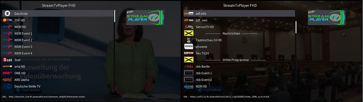 StreamTVPlayer FHD Plugin - VU+ Addons, Tools and Other files
